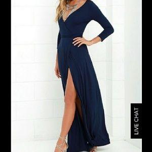 Lulus Wrap Maxi Dress L